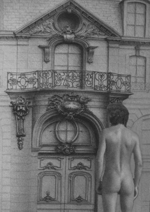 dessin au crayon hotel