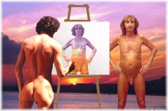 alain peintre et modèle